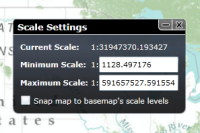 Map Scale Settings Add-In