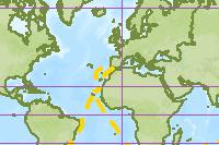 Magellan crosses the Atlantic Ocean
