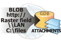Raster Field, BLOB, Or Hyperlink To Attachment