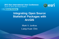 Integrating Open Source Statistical Packages with ArcGIS (UC 2013)