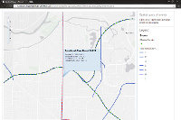 JavaScript REST API code sample: Spatial query of linear event data