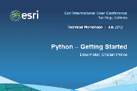 Python—Getting started (UC 2012)