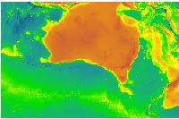 Australian bathymetry topography