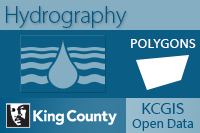 Open water for King County and portions of adjacent counties
