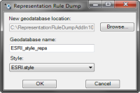 Representation Rule Dump Add-In (ArcGIS 10.1)