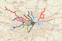 The true geography of the London Underground