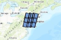 Landsat Footprints over New Jersey