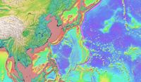 SRTM30_PLUS topography/bathymetry (30 arc-sec grid), 2014