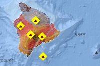 Hawaii Island Lava Flow Hazard Zones