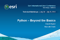 Python—Beyond the Basics (UC 2012)