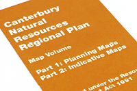 Map Volume B for the Natural Resources Regional Plan