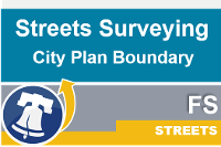 Streets city plan boundary