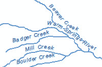 Usa rivers and streams