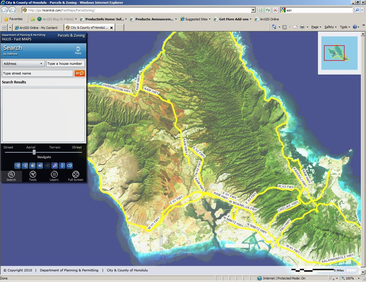 City and County of Honolulu Zoning and Parcel Map Application