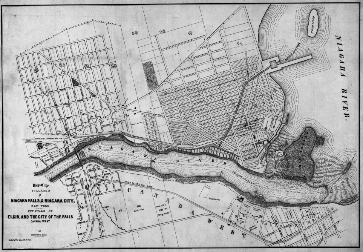Map Of The Villages Of Niagara Falls Niagara City New