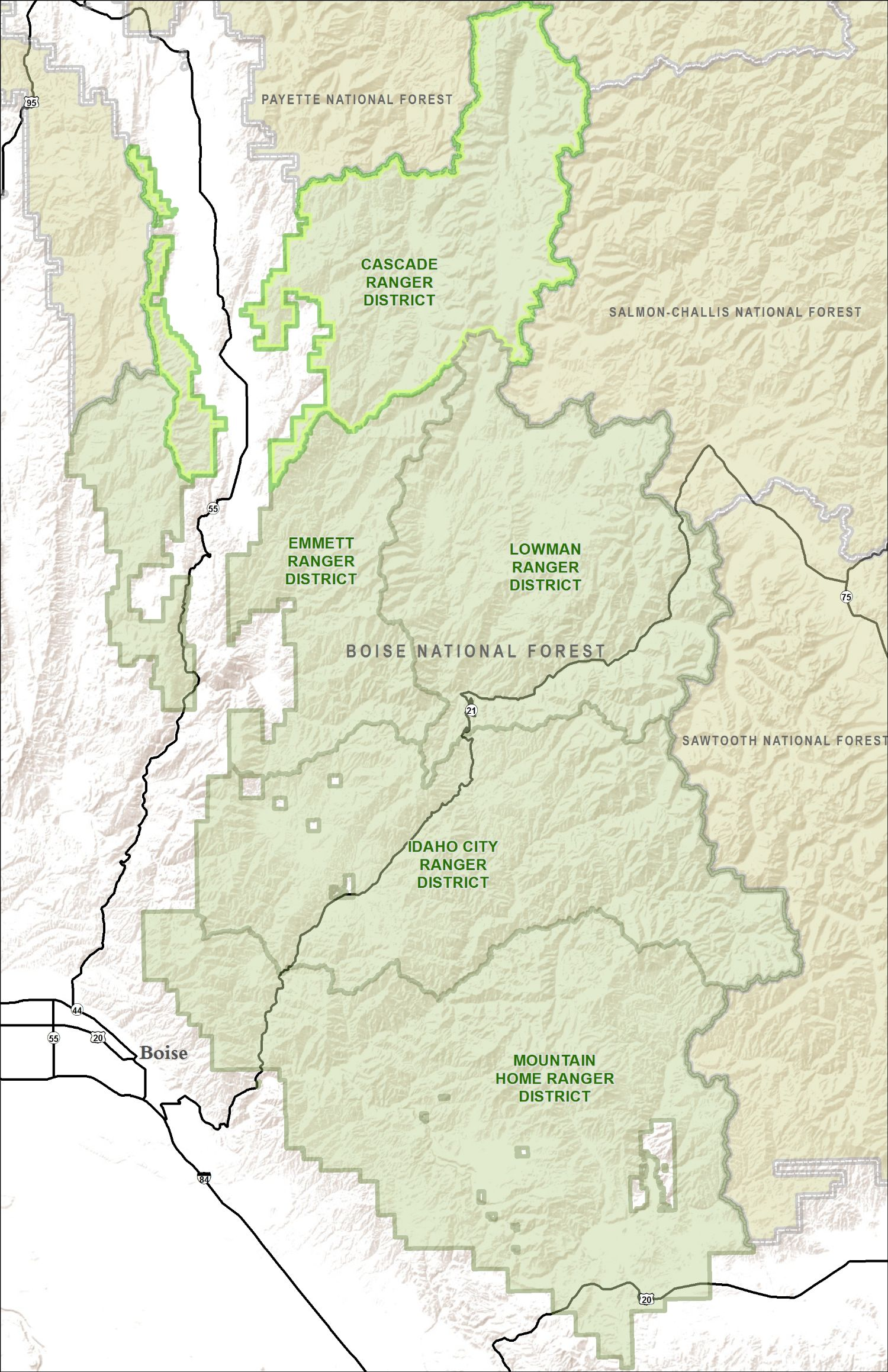 Boise National Forest Closures on