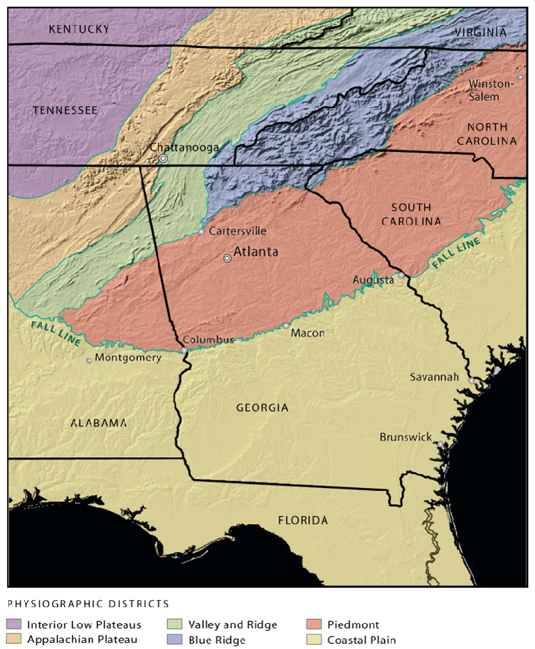 Map Of Georgia 7 Wonders.Geology Of Georgia