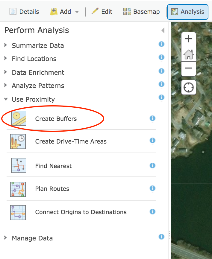 A Review of ArcGIS Online Analysis Tools