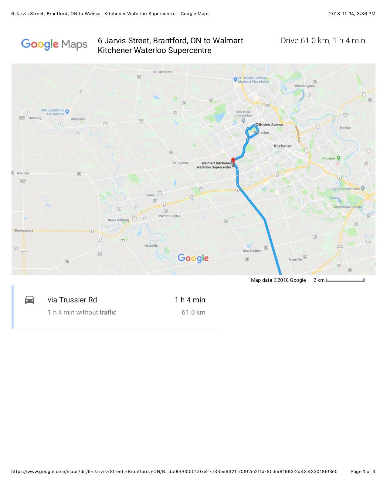 google maps brantford ontario
