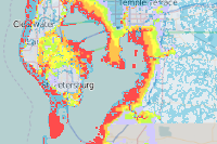 FEMA 100 Year Flood Zones in St. Petersburg, FL  Year Flood Zone Map on