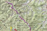 topographic map of appalachian mountains Appalachian Trail Topographic Map Shelter Locations Copy