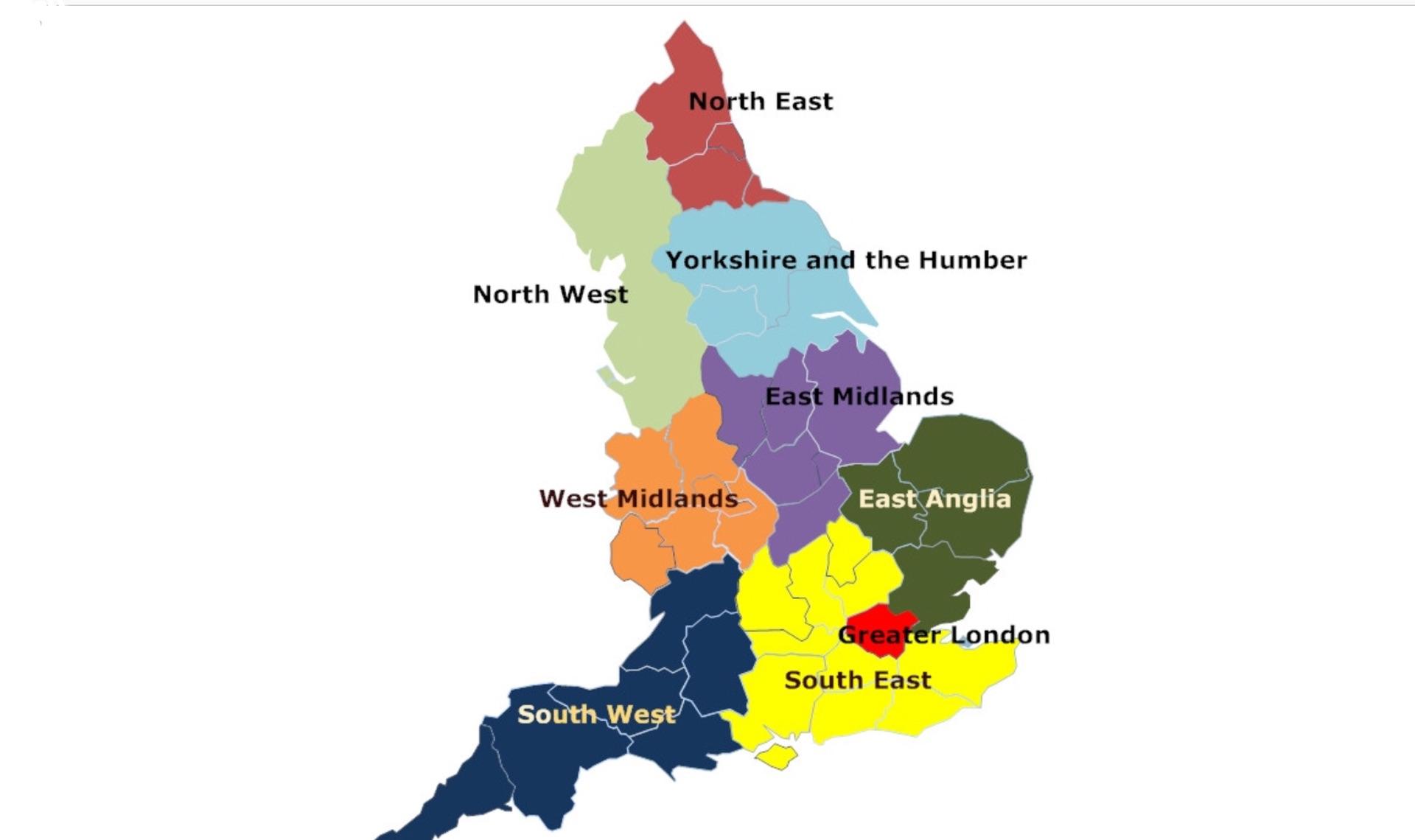England And London Map.England