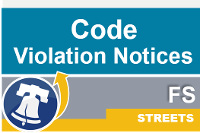 Streets streets code violation notices