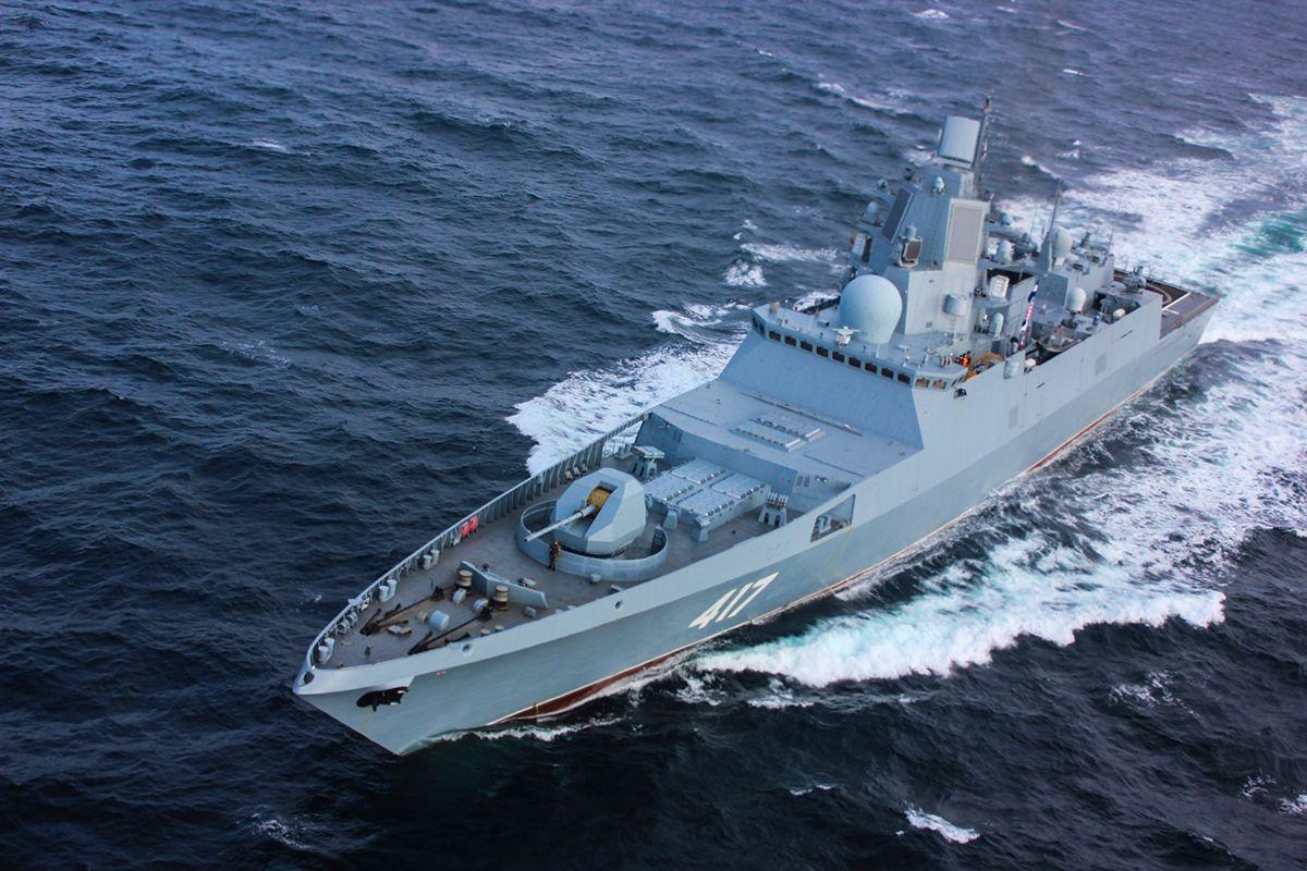 Fragata da classe do almirante Gorshkov (por Mil.ru, CC POR 4.0)