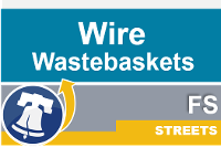 Streets wastebaskets wire