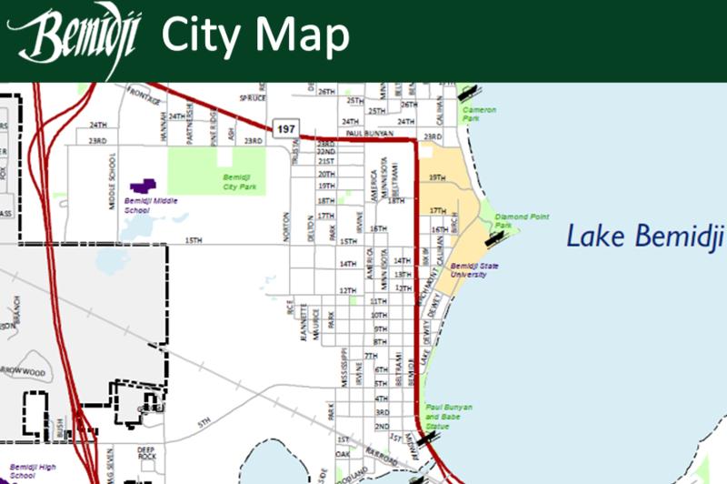 Bemidji Minnesota Map.Gishub