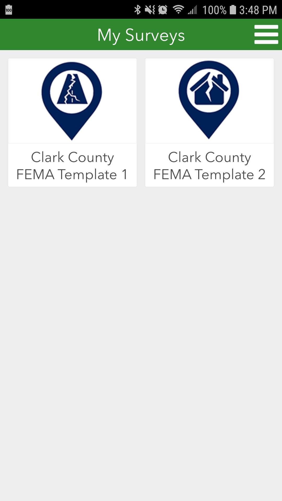 Survey 123 - Using FEMA Templates