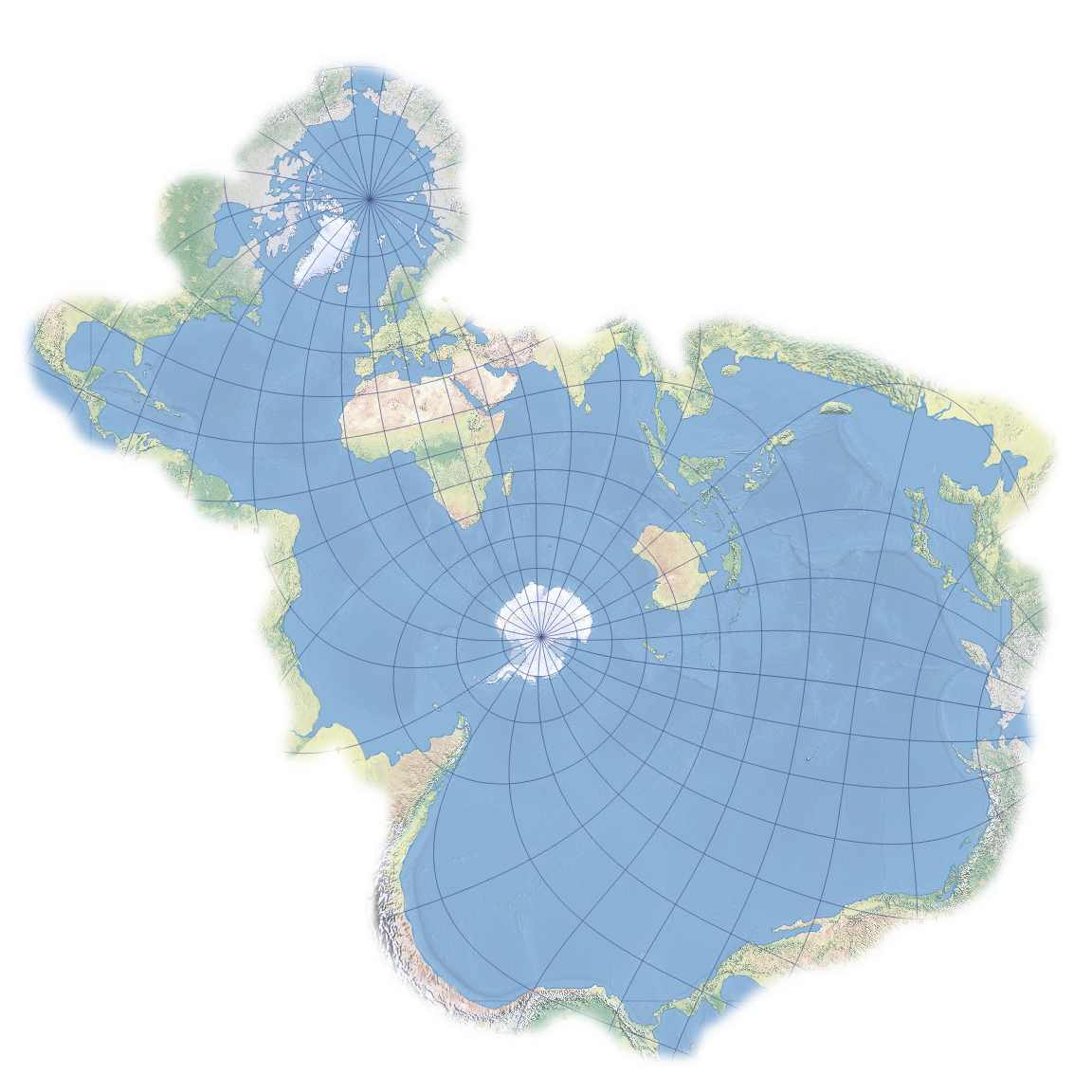 World Map Of Oceans The Spilhaus World Ocean Map in a Square