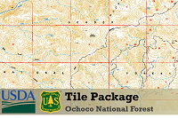 Ochoco National Forest Topographic Map on