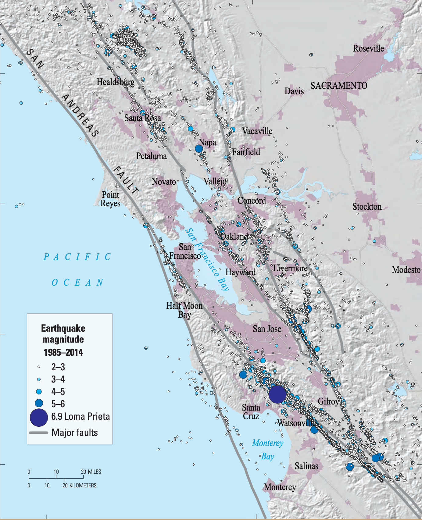 California S Earthquake Faults That's stronger than the 1989 loma prieta quake. california s earthquake faults