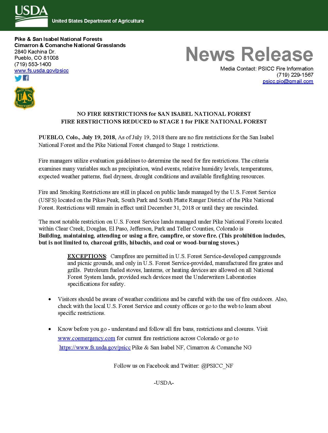 Colorado Emergency Management: Fire Bans & Danger