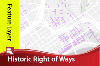 Historic right of ways  28feature layer 29