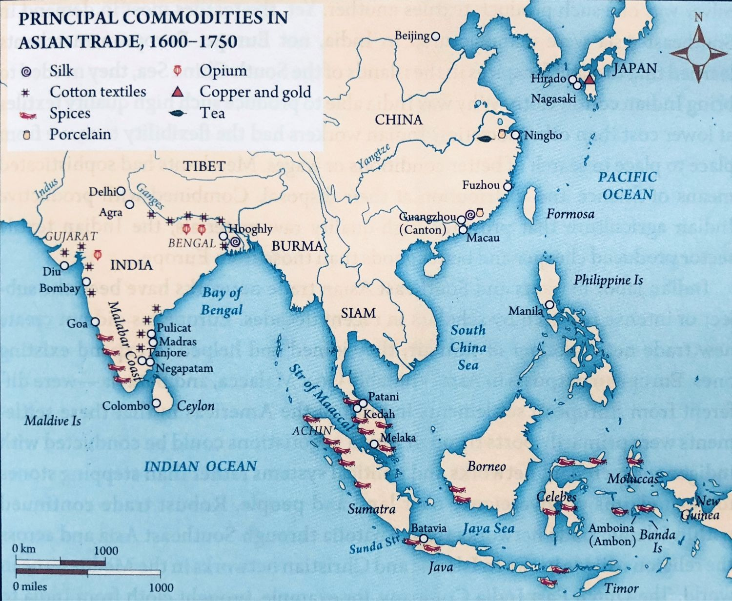 Map Of Asia During Imperialism.The Struggle For Economic Power And Dominance