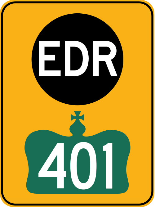 Highway 401 EDR's Through Lennox & Addington