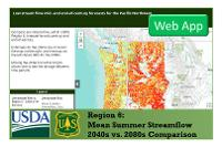 USFS Region 06, Climate Change Toolkit Gallery App Data