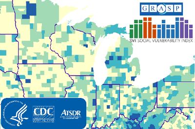 CDC Social Vulnerability Index 2018 - USA