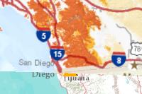 San Diego County Wildland Fire History And Hazards