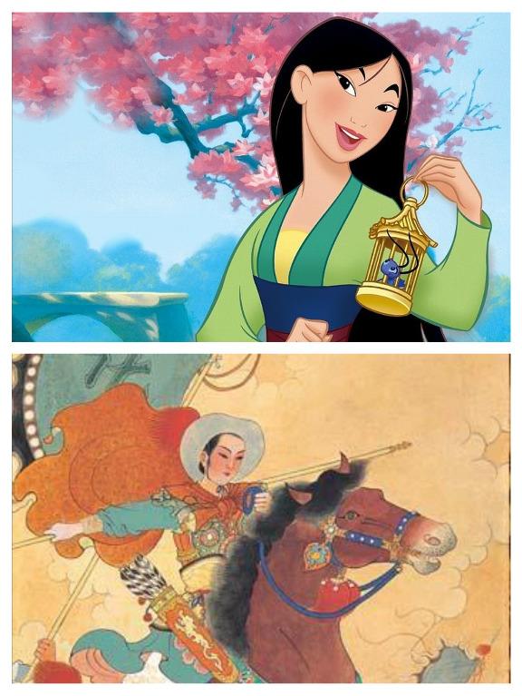 Hua Mulan In Chinese Ballad Vs Mulan In Disney Film Arcgis