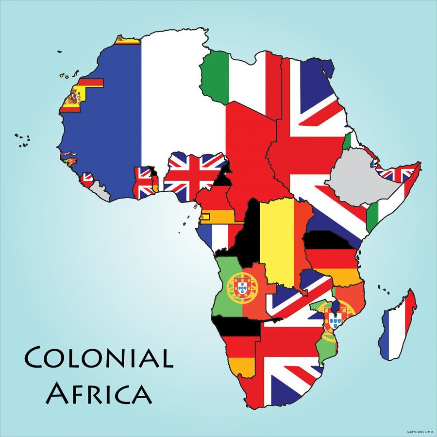 Map Of Africa During Colonization.British Colonization Of Africa