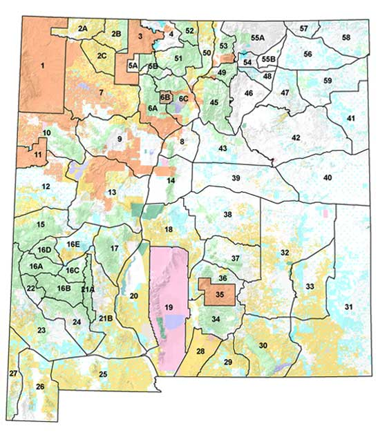 unit 17 new mexico map Hunting Areas In New Mexico
