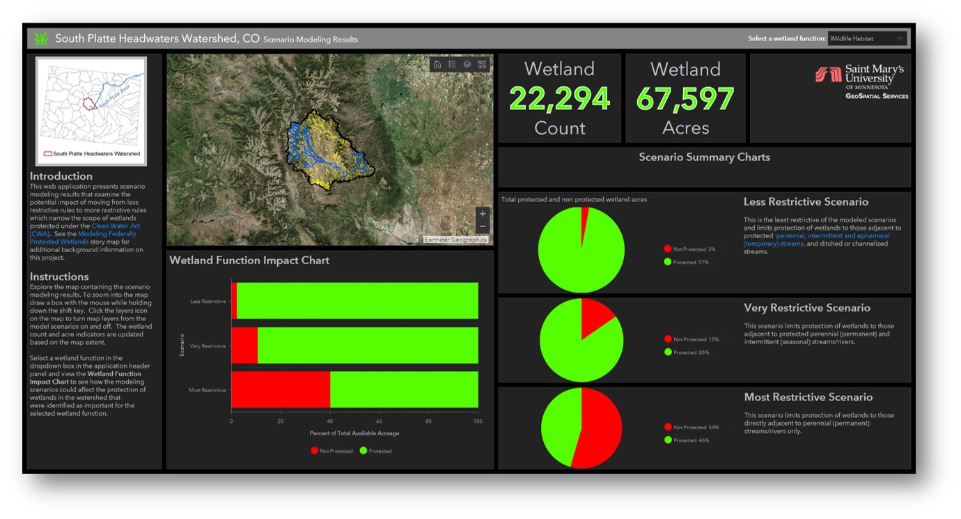 south platte headwaters watershed custom web app south platte headwaters  operations dashboard