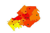 Knox County Tennessee Map.Knox County Tn High School Zone Growth And Ideal School Capacity