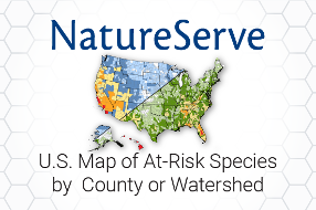 NatureServe U.S. Map of At-Risk Species by County or Watershed